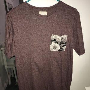 on the byas; women's rose t-shirt